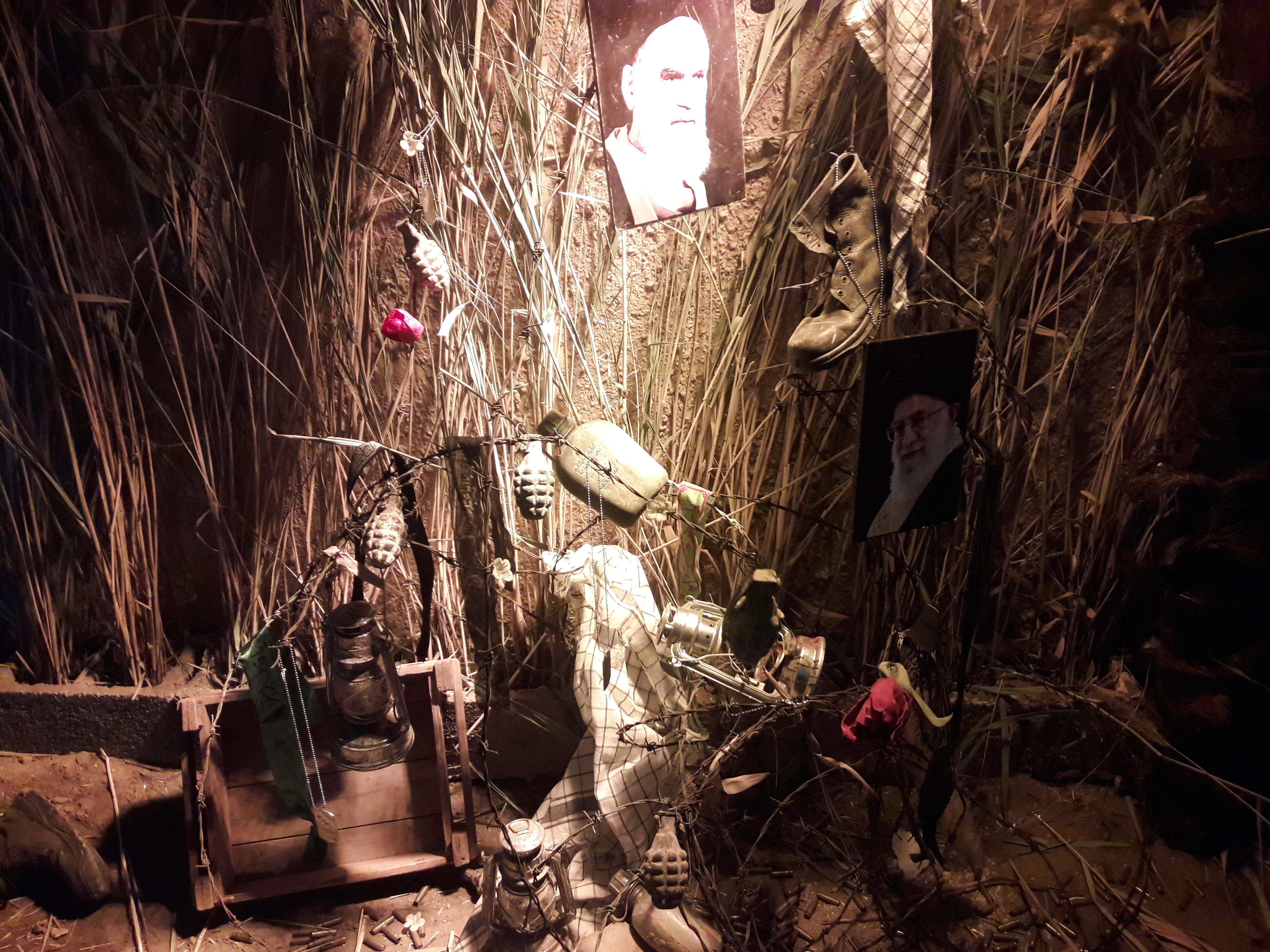 برپایی نمایشگاه زخم ایستادگی در آبیک
