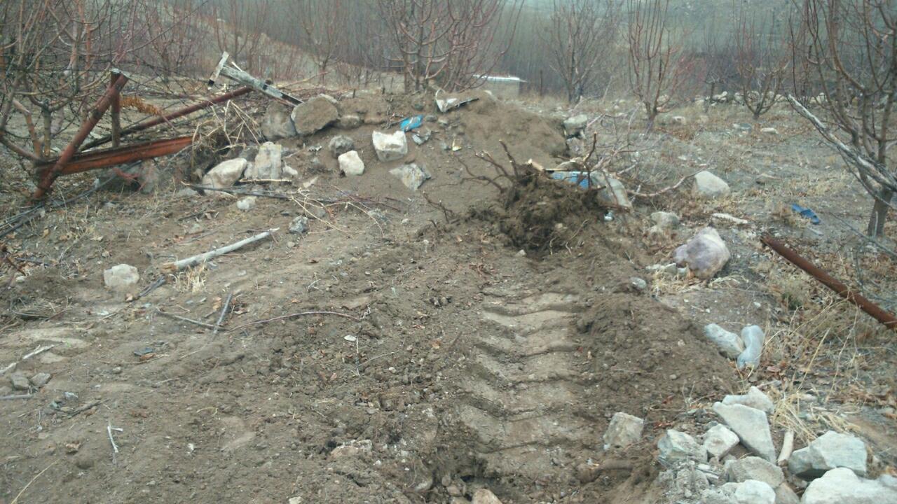 تخریب واحدهای غیرمجاز در روستای زیاران