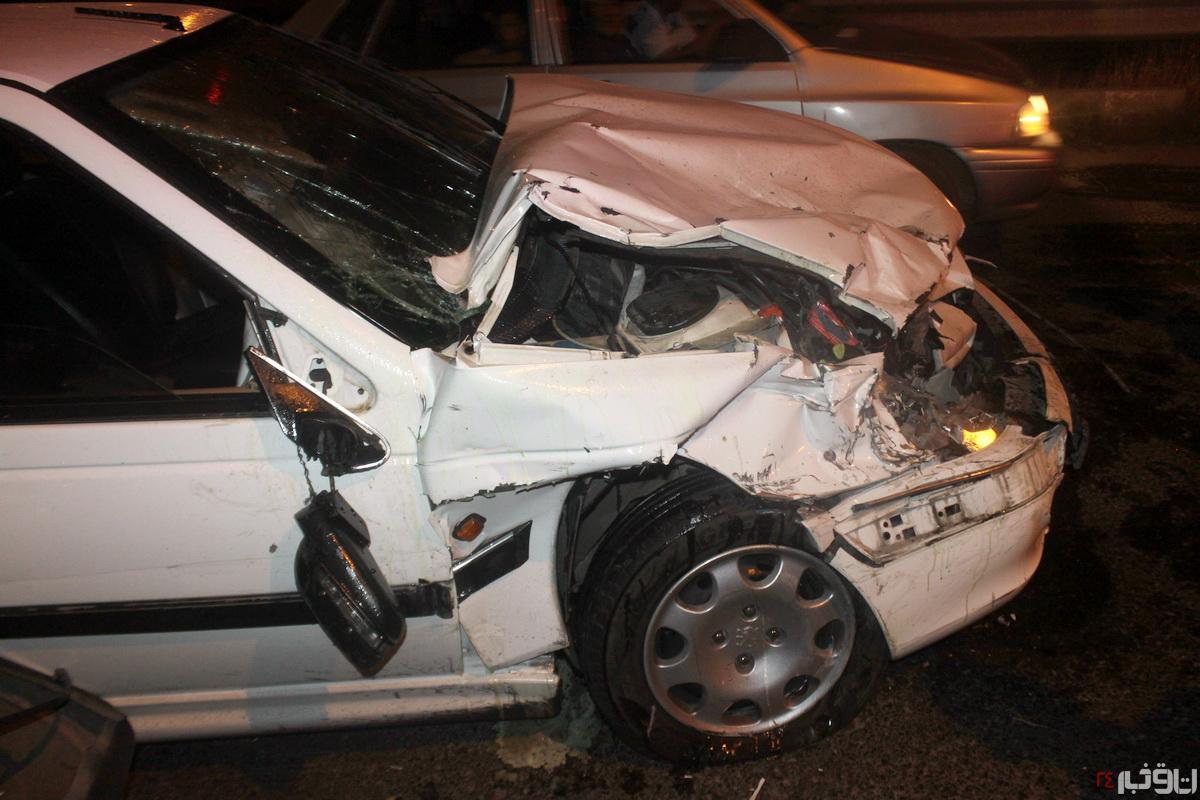 ۵ نفر در سانحه رانندگی آبیک مصدوم شدند
